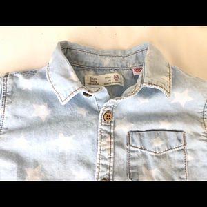 Zara shirt stars size 2-3 years, 98cm almost new